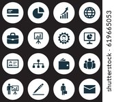 trade icons set. collection of... | Shutterstock .eps vector #619665053