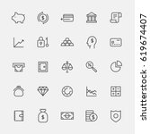 finance lin icons vector... | Shutterstock .eps vector #619674407