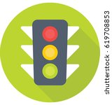 traffic signals vector icon | Shutterstock .eps vector #619708853