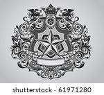 ornate shield crest design