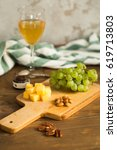 snacks plate  grapes  cheese ...   Shutterstock . vector #619713803