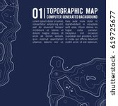 topographic map background with ... | Shutterstock .eps vector #619725677
