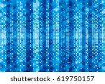 blue pixels geometric glowing...   Shutterstock .eps vector #619750157