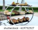 afternoon tea near the beach | Shutterstock . vector #619752527