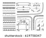 big set of decorative elements. ... | Shutterstock .eps vector #619758347