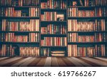blurred image many old books on ... | Shutterstock . vector #619766267