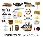 Set Of Pirate Object Tool On A...