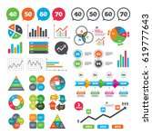 business charts. growth graph.... | Shutterstock .eps vector #619777643