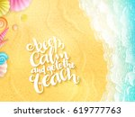vector hand lettering summer... | Shutterstock .eps vector #619777763