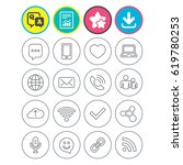 report  download and star signs.... | Shutterstock .eps vector #619780253