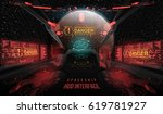 view from the cockpit spaceship.... | Shutterstock .eps vector #619781927