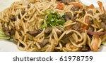 peruvian style beef spaghetti...