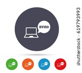 byod sign icon. bring your own... | Shutterstock .eps vector #619793993
