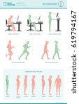 body ergonomics infographic and ... | Shutterstock .eps vector #619794167