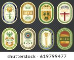 vector set of label templates... | Shutterstock .eps vector #619799477