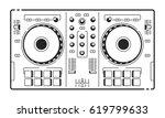 dj usb controller. vector art... | Shutterstock .eps vector #619799633