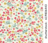 simple cute pattern in small... | Shutterstock . vector #619806443