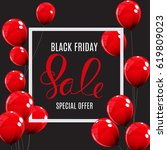 black friday sale balloon... | Shutterstock .eps vector #619809023