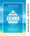 summer sale banner online... | Shutterstock .eps vector #619812413