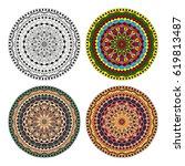 mandala. vector image....   Shutterstock .eps vector #619813487