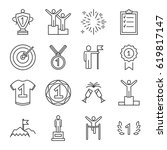 set of winning related vector... | Shutterstock .eps vector #619817147