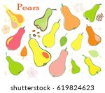 a set of hand painted chopped ... | Shutterstock .eps vector #619824623