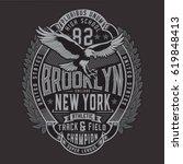 college sport brooklyn... | Shutterstock .eps vector #619848413