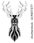 Graphic Stylization Deer Head...