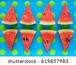 Watermelon Sliced And Blue And...