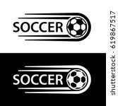 soccer ball motion line symbol... | Shutterstock .eps vector #619867517