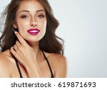 beautiful woman skin tanned red ... | Shutterstock . vector #619871693