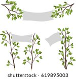 a sign on the tree | Shutterstock .eps vector #619895003