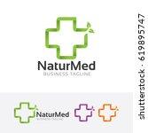 natural medical  vector logo...   Shutterstock .eps vector #619895747