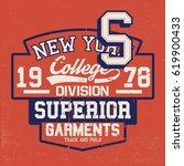 vintage college style vector... | Shutterstock .eps vector #619900433