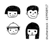 doodle people icon | Shutterstock .eps vector #619908917