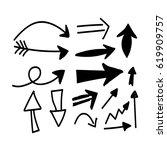 hand drawn arrow | Shutterstock .eps vector #619909757
