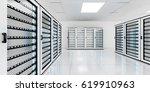 white server room data center...   Shutterstock . vector #619910963