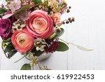 beautiful bouquet of flowers in ...   Shutterstock . vector #619922453