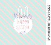 happy easter typographical... | Shutterstock .eps vector #619944227