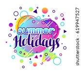 summer holidays. abstract... | Shutterstock .eps vector #619947527