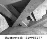 dark empty room. concrete rusty ... | Shutterstock . vector #619958177