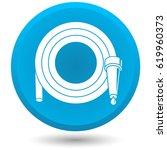 garden hose  vector icon. | Shutterstock .eps vector #619960373