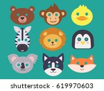 animals carnival mask vector... | Shutterstock .eps vector #619970603