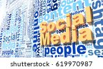 social media keywords wordcloud ... | Shutterstock . vector #619970987