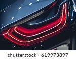 headlight of a modern luxury... | Shutterstock . vector #619973897
