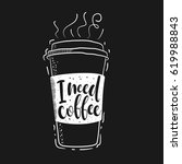 vector illustration coffee cup... | Shutterstock .eps vector #619988843