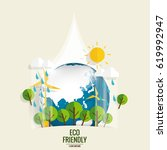 eco friendly. ecology concept... | Shutterstock .eps vector #619992947