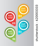 abstract infographics number... | Shutterstock .eps vector #620003333