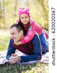 devoted father and daughter...   Shutterstock . vector #620020367
