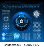 hud style in network security... | Shutterstock .eps vector #620024177